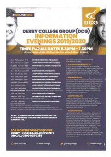 Derby College Information Evenings 2019 - 2020