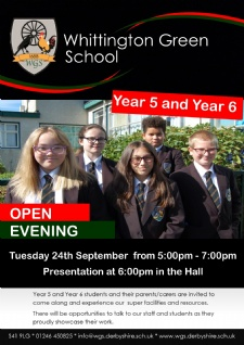 Open Evening Tuesday 24 September 2019